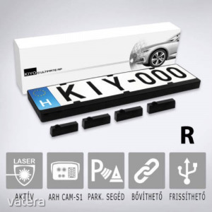 KIYO D Ultimate AP 4R rendszámtábla keretes aktív lézeres jelzőkészülék 4 szenzorral (KY-D4U2AP-V...