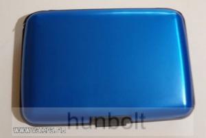 Bankkártya tartó metál kék színű