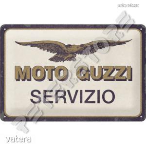 Retró Fém Tábla - Moto Guzzi Dombornyomott - 3690 Ft Kép