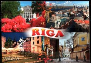 8db külföldi képeslap egyben, Riga, Toscana, Dubrovnik, Párizs, Hollandia, stb.