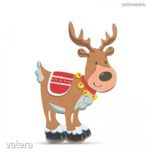 Karácsonyi kreatív 3D habmatrica rénszarvas 3 db-os