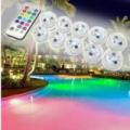 10 darabos RGB LED medencevilágítás távirányítóval