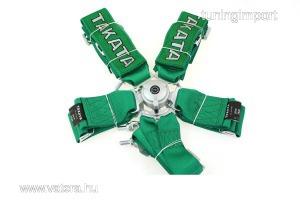 Racing Biztonsági övek 6p 3 zöld - Takata Replica harness