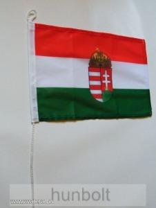 Nemzeti színű címeres megkötős zászló biciklire és hajóra 20x30 cm
