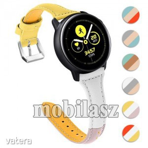 Valódi bőr okosóra szíj - 22mm széles, Tricolor - SAMSUNG Galaxy Watch 46mm / SAMSUNG Gear S3 Cla...