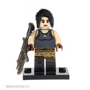 Fortnite, Female Special Soldier minifigura - fényes fegyverrel - KÉSZLETRŐL!