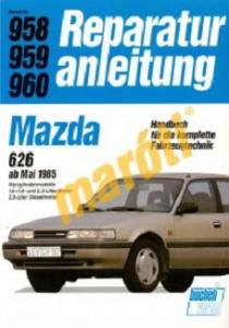 Mazda Javítási kézikönyv, mazda 626 1985-től (német nyelvű)