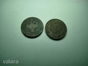 2db 4 KREUZER 1860 B és 1861 B - 4 krajcár - Vatera.hu Kép