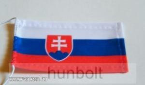 Szlovák zászló antennára, biciklire, 10x6 cm
