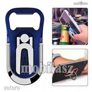 UNIVERZÁLIS ujjtámasz, gyűrű tartó, sörnyitó - Biztos fogás készülékéhez, alumínium, üvegnyitó, 3...
