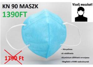KÉSZLETRŐL! KN90 porvédő egészségügyi munkavédelmi maszk szájmaszk ffp2