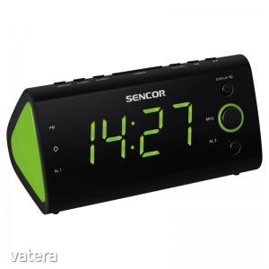Sencor SRC 170 GN - Ébresztőórás rádió, LED kijelző, 230V/50Hz
