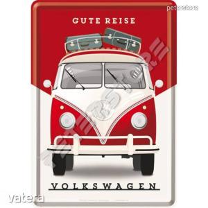 Retró Fém Képeslap - Volkswagen VW T1 Busz - Vatera.hu Kép