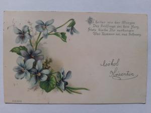 Képeslap, levelezőlap - virágok  motívum 1901. bélyeg Túrkeve