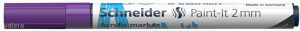 Akril marker, 2 mm, SCHNEIDER 'Paint-It 310', lila