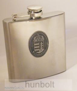 Ón címeres ezüst színű rozsdamentes flaska 200 ml