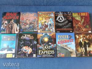 Half-Life 1.,Escape From M. I.,Kingpin,Last Express,Alone In The dark3.,stb. DOBOZOS PC játékok