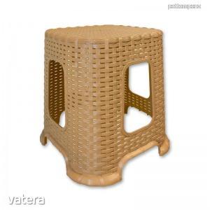 Fonott mintás műanyag Sámli, ülőke - Közepes