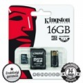 16GB KINGSTON microSDHC+SD ADAPTER+USB OLVASÓ CLASS 10