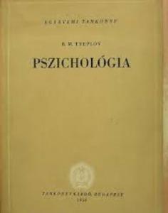 B.M. Tyeplov: Pszichológia