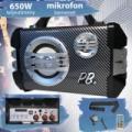 PowerBase Stronger 650W bluetooth akkus karaoke hangfal PBPS-0151