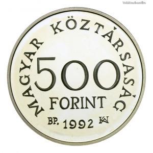 Károly Róbert ezüst 500 Forint 1992 PP