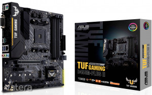 Asus TUF GAMING B450M-PLUS II Alaplap Foglalat AMD AM4 Formafaktor Micro-ATX Alaplapi chipszet AM...