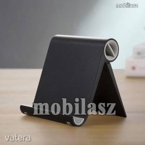 UNIVERZÁLIS asztali telefon tartó, állvány - állítható szög, összecsukható, összecsukott méret 10...