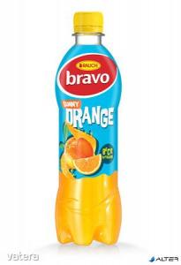 Gyümölcsital, 10%, 0,5 l, RAUCH Bravo, narancs