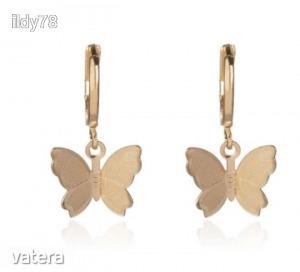 Arany pillangós fülbevaló