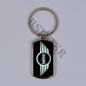 Mini mintás elegáns fém kulcstartó