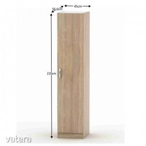 1 ajtós szekrény, sonoma tölgy, BETTY 2 BE02-006-00