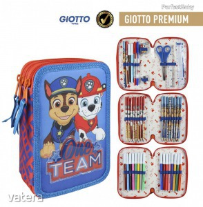 Mancs őrjárat 3 emeletes tolltartó, töltött, Giotto prémium
