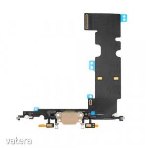 Töltő csatlakozó flex kábellel és mikrofonnal Iphone 8 Plus, arany