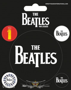 The Beatles (Black). Vinyl stickers. matrica szett