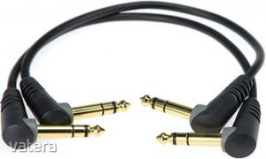 Klotz - JACK-JACK kábel, 0,6 m Klotz aranyozott 6,35-JACK3 pipa - 6,35-JACK3 pipa csatlakozók, + ...