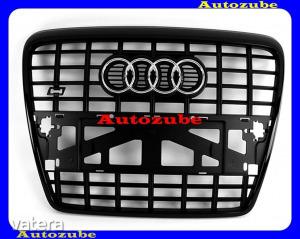 AUDI  A6  C6  2004.05-2008.09  /4F/  Hűtődíszrács    S6    fekete  kerettel,komplett  /Gyári  alk...