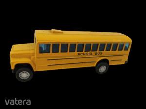 Sárga fém  busz, School Bus