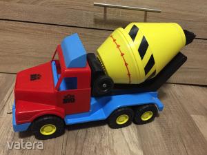 PIETRO TOYS színes betonkeverő betonmixer nagy autó 55cm