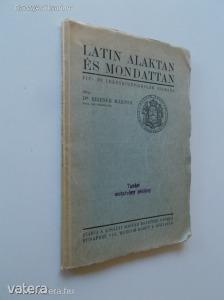 Dr. Reibner Márton: Latin alaktan és mondattan / 1937. (*86)