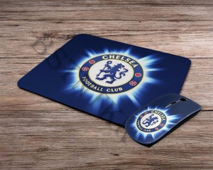FC Chelsea mintás vezeték nélküli egér + egérpad