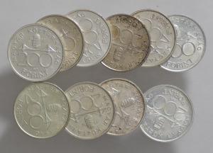 Vegyes ezüst 200 forint LOT ( 10 db )  SN71