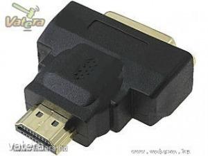 Adapter : HDMI (apa) / DVI (anya) - Aranyozott