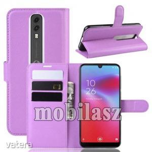Vodafone Smart V10, WALLET notesz mobiltok, Lila