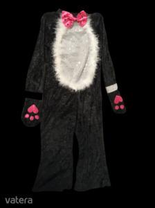 5-7 évesre fekete plüss cica jelmez