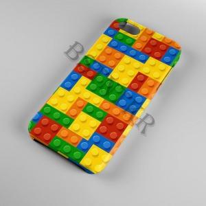 Lego mintás Huawei P-Smart P Smart tok hátlap tartó