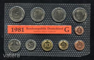 1981 G  Németország  nylon tokos forgalmi sor  BG21