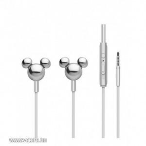 Disney sztereo headset - 3D Mickey 3,5mm jack ezüst
