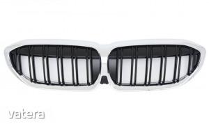 BMW G20 G21 krómozott lakkozott fekete M4 stílusú vese - Vatera.hu Kép