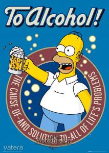 THE SIMPSONS - TO ALCOHOL plakát, poszter